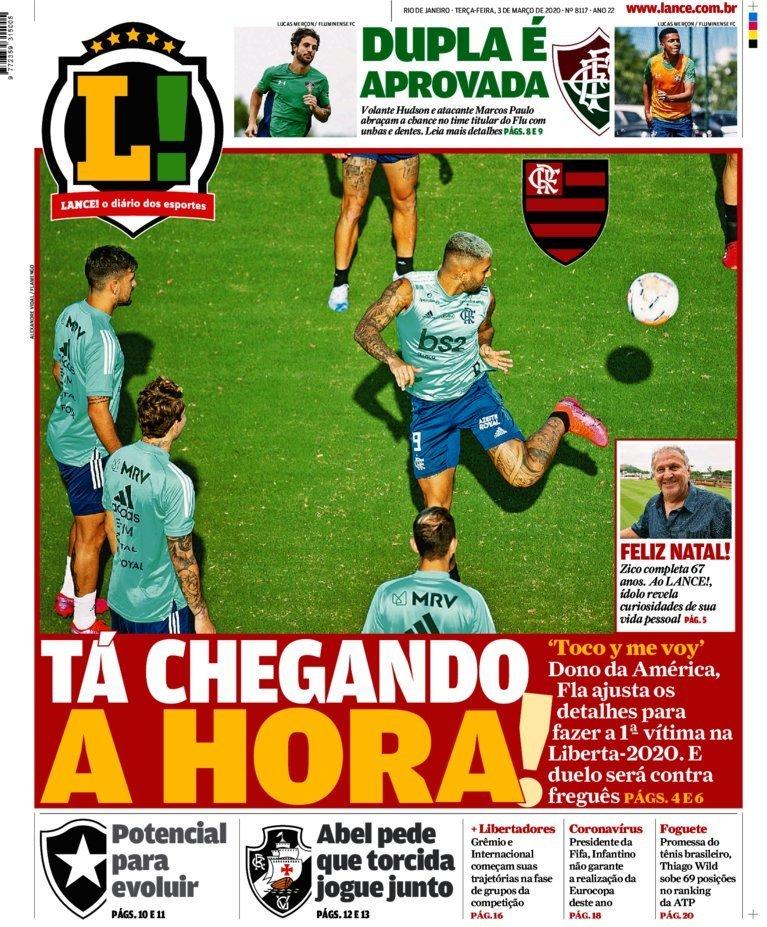 capa Jornal Lance! Rio de Janeiro