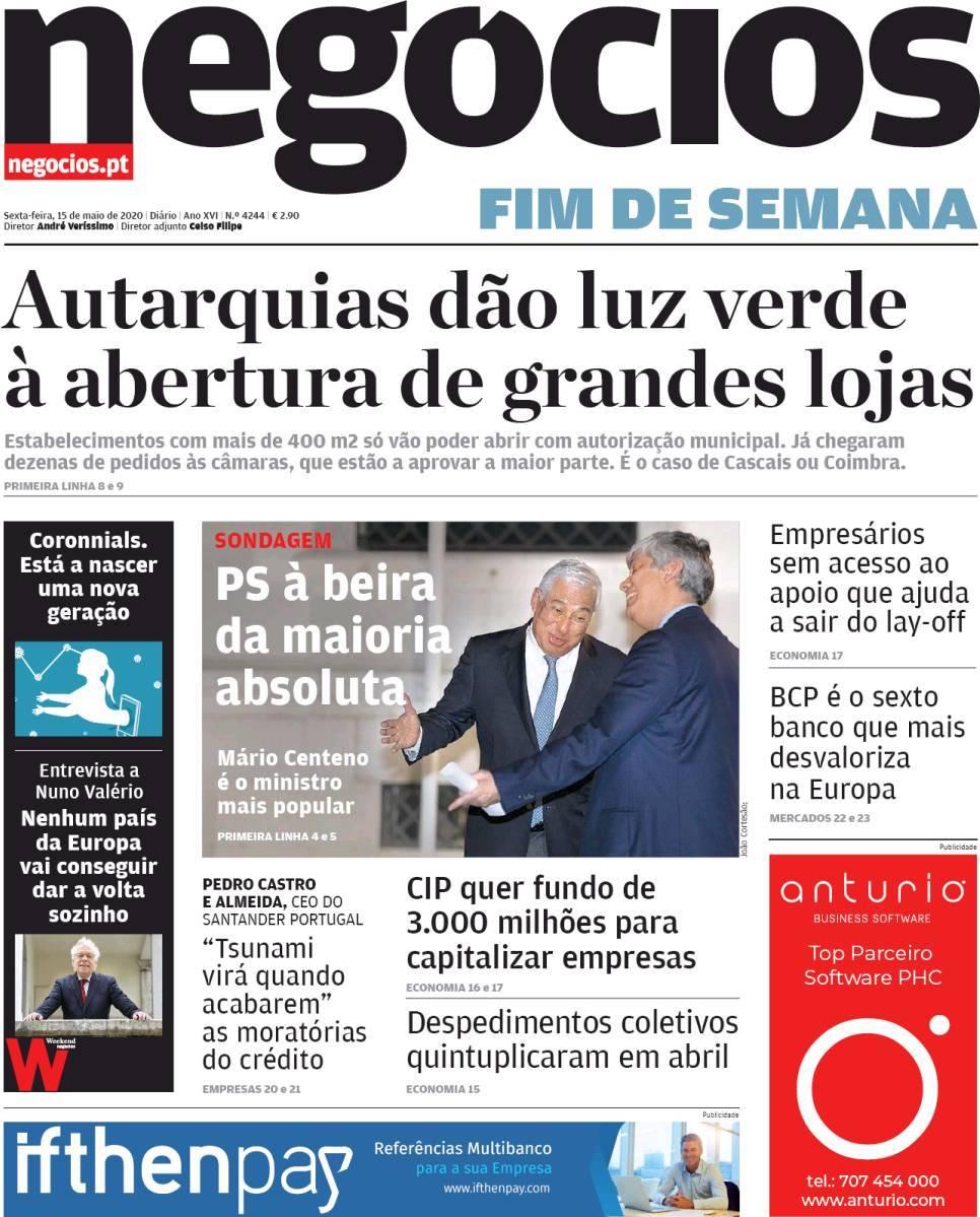 capa Jornal de Negócios