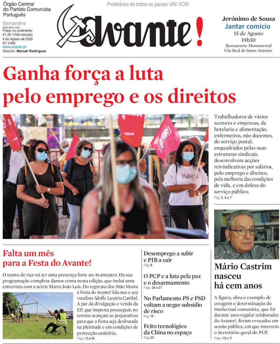 capa Jornal Avante