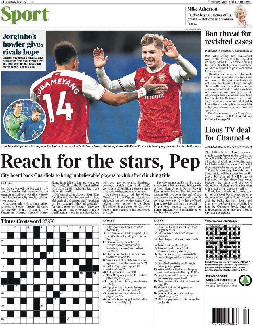 capa Jornal Times Sport