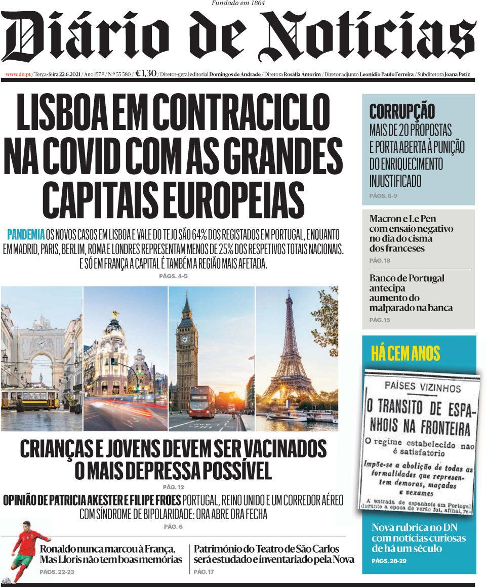 capa Diário de Notícias
