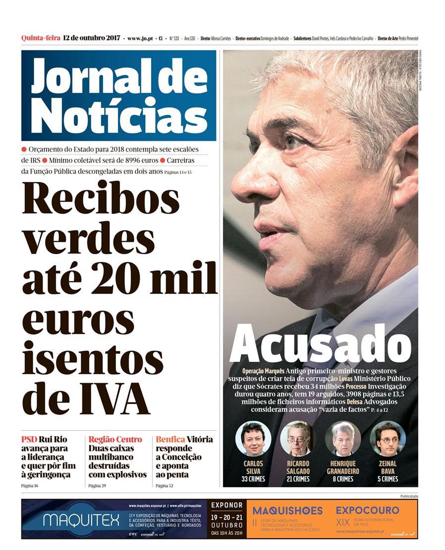 capa Jornal de Notícias